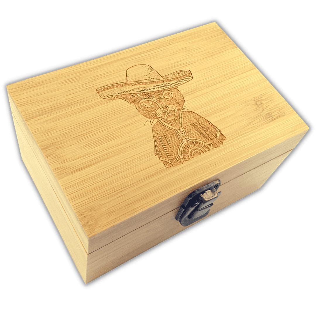 Western Cat Bamboo Box